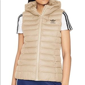 Adidas Originals hooded puff slim vest